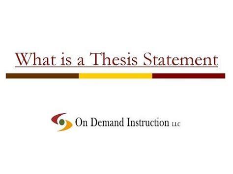 Write a thesis sentence